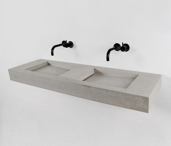 Flor Double by Kast Concrete Basins | Wash basins