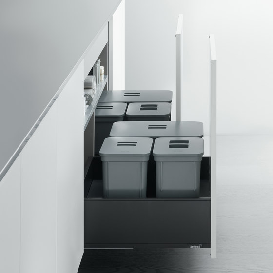 "Undersink Unit | Base unit with ""big bin"" separate waste disposal system by Arclinea 