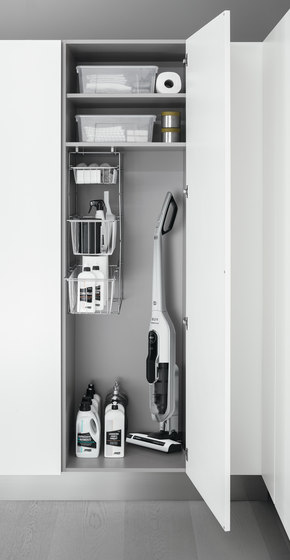 Tall Units | Broom tall unit by Arclinea | Kitchen organization