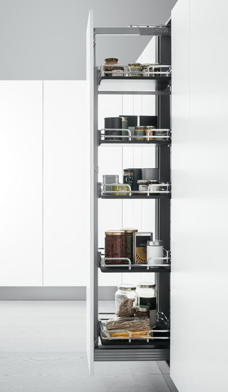 Tall Units | Pull-out pantry unit by Arclinea | Kitchen organization