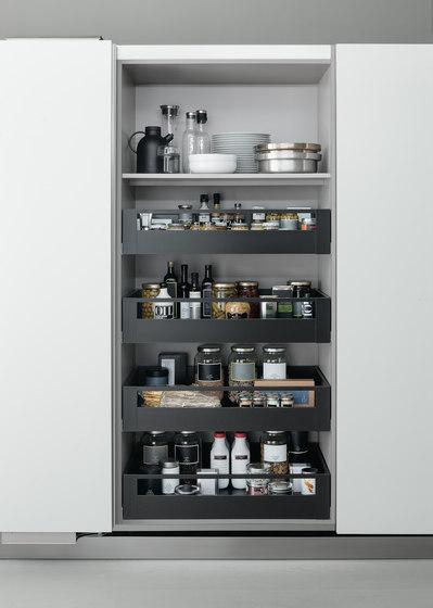 Tall Units | Coplanar pantry unit by Arclinea | Kitchen organization