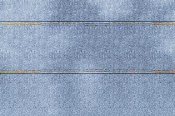 Wall Script Blue Jeans by GLAMORA | Bespoke wall coverings