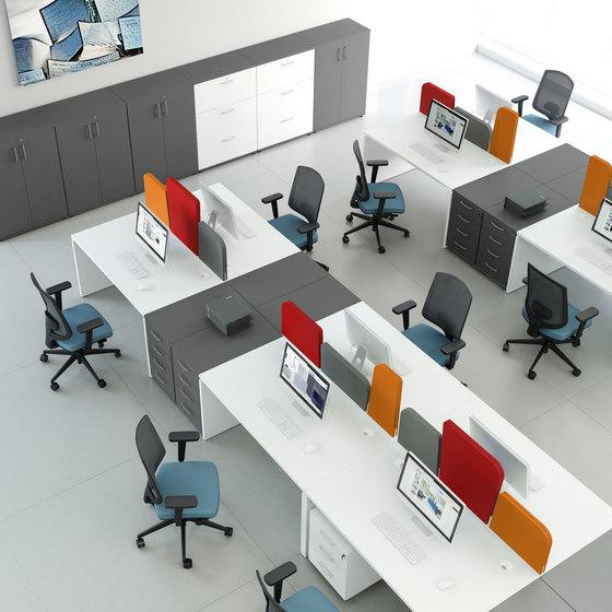 Ogi V by MDD   Desking systems
