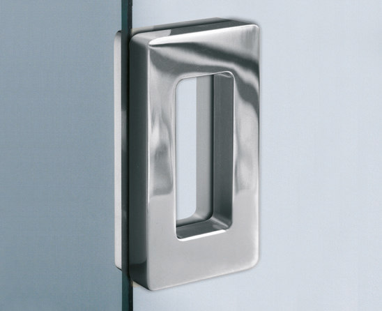 V 534 INC | Flush Pull Handles For Glass Doors | Metalglas Bonomi