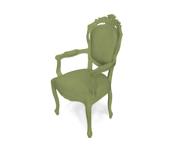 Plastic Fantastic dining chair armchair olive de JSPR | Sillas de jardín