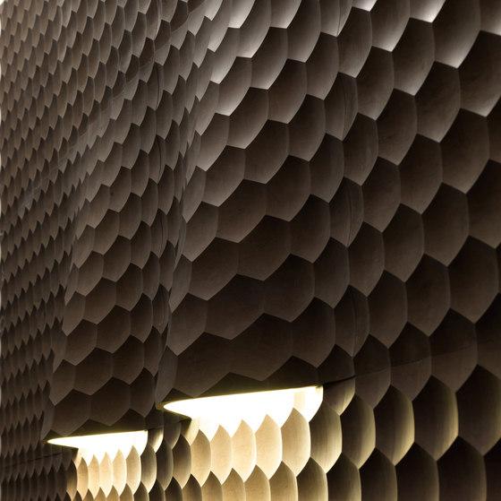 Complementi Luce | Favo coni luce di Lithos Design | Lastre pietra naturale