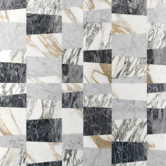 Opus | Piano patchwork by Lithos Design | Natural stone panels