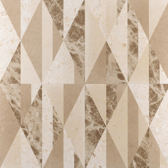Opus | Tangram chantilly by Lithos Design | Natural stone panels