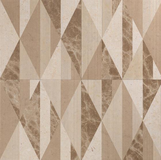Opus | Tangram chantilly de Lithos Design | Panneaux en pierre naturelle