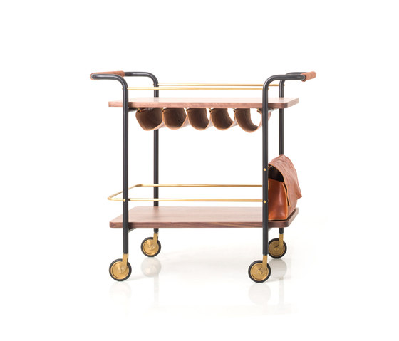 Valet Bar Cart by Stellar Works | Tea-trolleys / Bar-trolleys