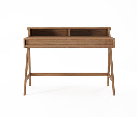 Tribute DESK TABLE with DRAWER & NICHES by Karpenter | Desks