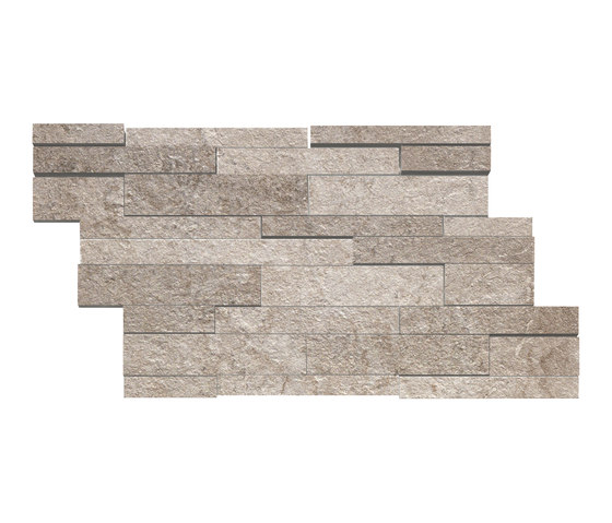 La Fabbrica - I Quarzi - Muretto 3D Prasio by La Fabbrica | Ceramic mosaics