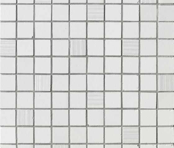 Ava - Axel - Mosaico Bianco Satinato di La Fabbrica | Mosaici ceramica