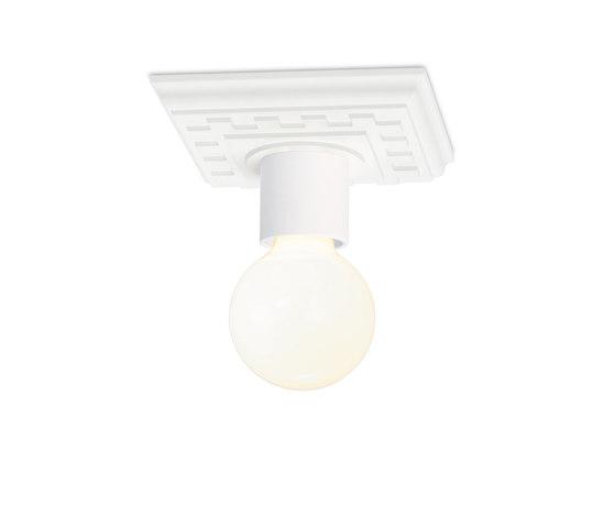 Paul pa 1 powder-coated matt white di Mawa Design | Lampade plafoniere