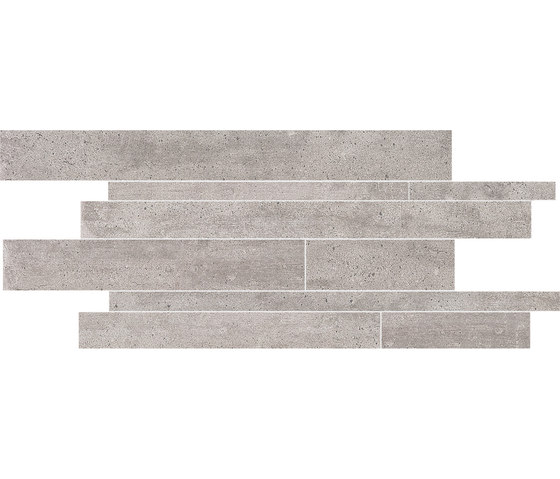 On Square Listelli Sfalsati Cemento by EMILGROUP | Ceramic tiles
