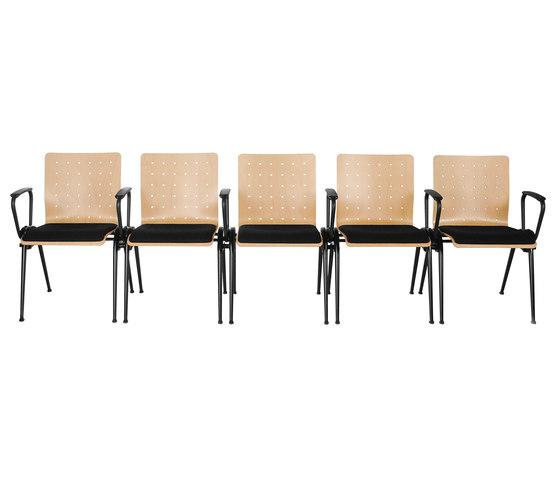 Gestell KFA | Schale 1014 von Stechert Stahlrohrmöbel | Besucherstühle