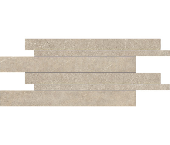 Limestone Beige Listelli sfalsati von EMILGROUP   Keramik Fliesen