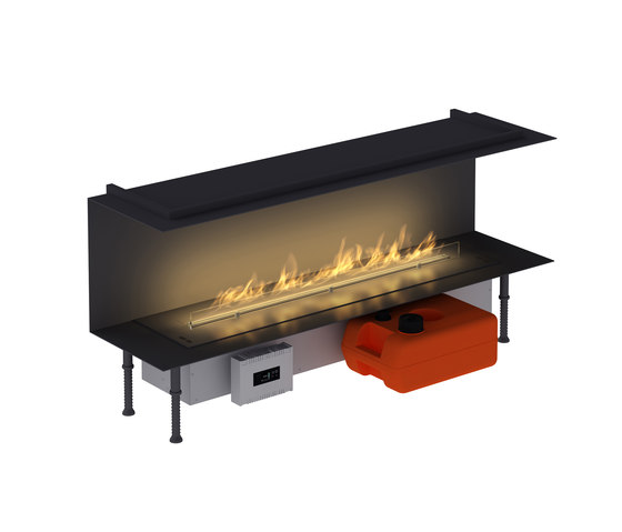 Fire Line Automatic XT in casing C by Planika | Open fireplaces