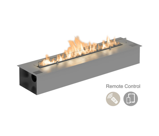 Fire Line Automatic 2 model E stainless steel by Planika | Fireplace inserts