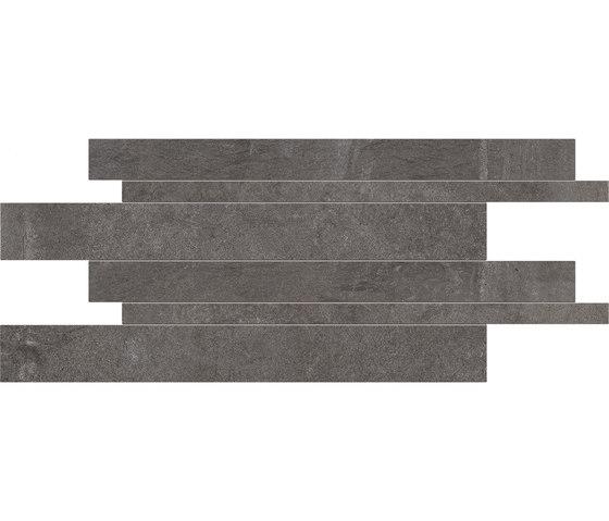 Dust Listelli Sfalsati Black by EMILGROUP | Ceramic tiles