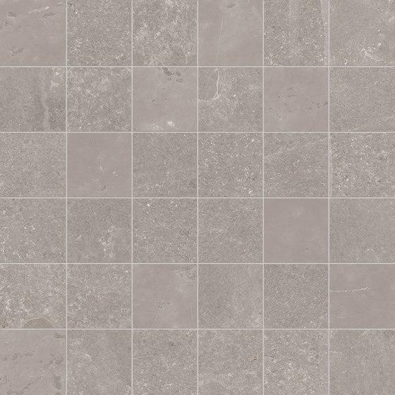 Groove Bright Grey Mosaico by EMILGROUP | Ceramic mosaics