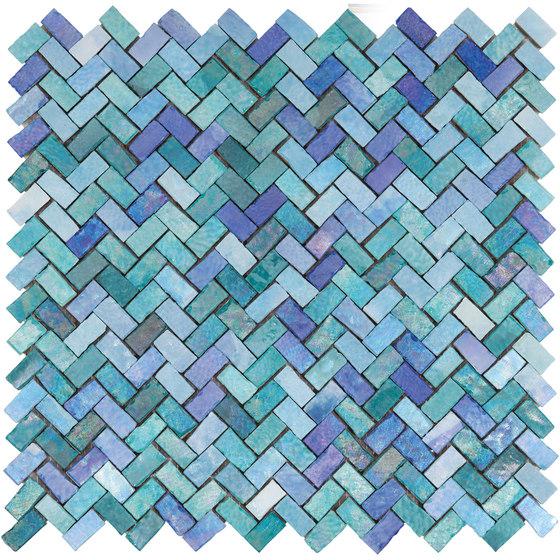 Zerodesign Mosaico Mare Lustrato Verde/Azzurro von EMILGROUP | Keramik Mosaike