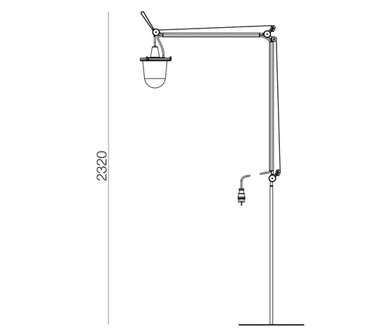 Tolomeo Outdoor Lampione Floor by Artemide Architectural | Outdoor free-standing lights