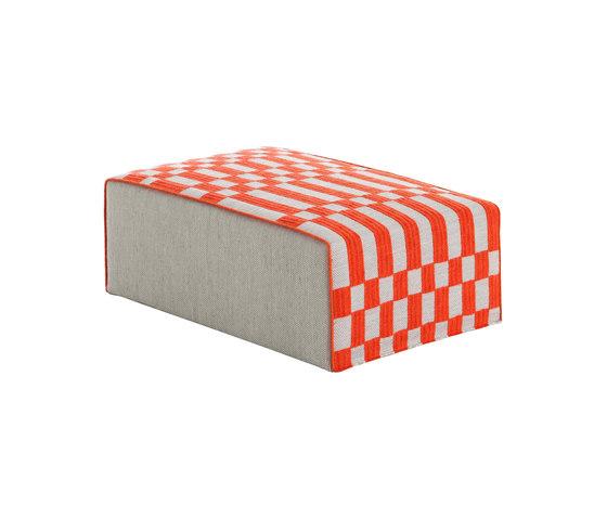 Bandas Big Pouf B Orange 23 de GAN | Pufs