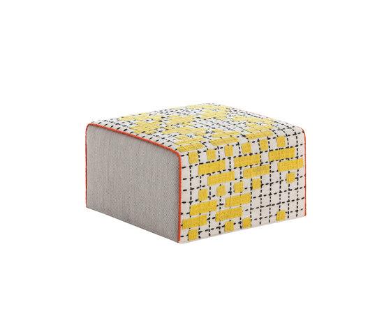 Bandas Small Pouf C Yellow 36 de GAN | Pufs