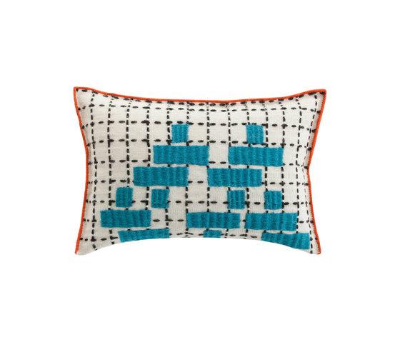 Bandas Cushion C Turquoise 5 de GAN | Cojines
