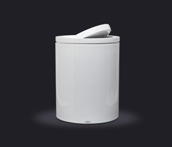Swivel Lid Wastebasket Medium by Vallvé | Bath waste bins