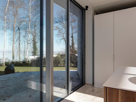Fly sliding window by Sky-Frame | Internal doors