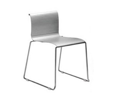 Abaco Indoor/Outdoor Stacking Side Chair de Aceray | Sièges de jardin