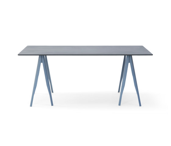 Y trestle & top béton by Tolix | Dining tables