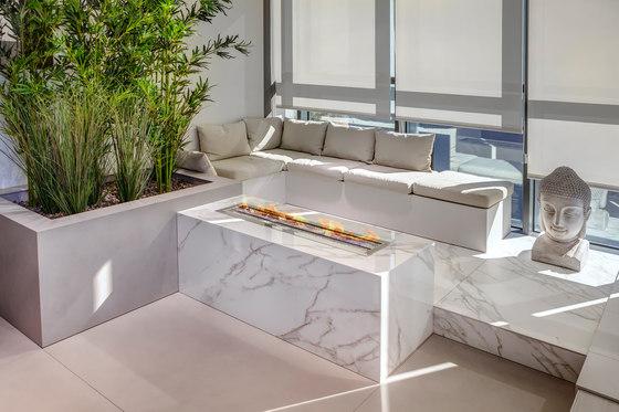 Interior | Classtone Calacatta & Fusion Pietra di Osso, Phedra & Textil White de Neolith | Accessoires cheminée