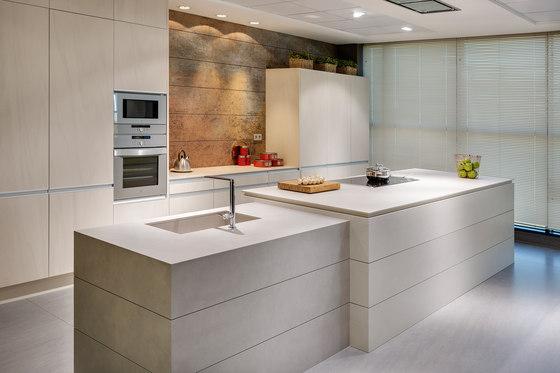 Kitchen | Fusion Pietra di Luna, Arena, Basalt Grey & Iron Blue by Neolith | Ceramic tiles