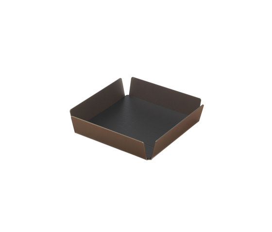 Tray Square Mini | bronze by LINDDNA | Trays