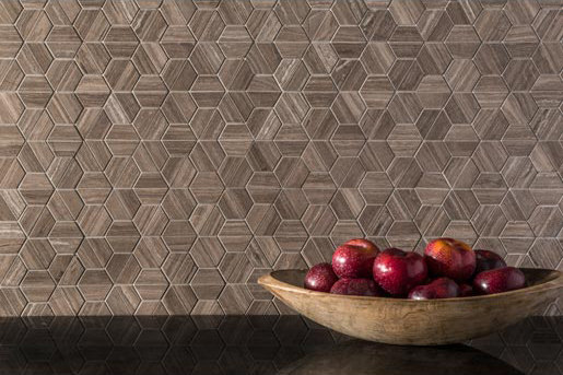 Origami | Hoshi Cocoa Taupe di AKDO | Mosaici pietra naturale