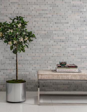 Origami | Massugu Ash Gray di AKDO | Mosaici pietra naturale