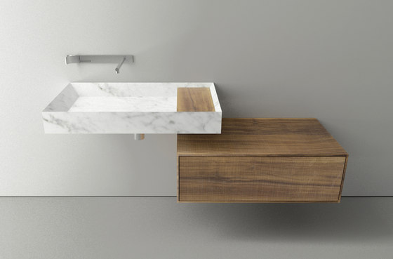 A 45 Stone by Boffi | Wash basins