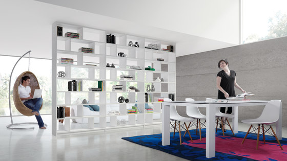 Ecco Bookshelf by Sistema Midi | Shelving