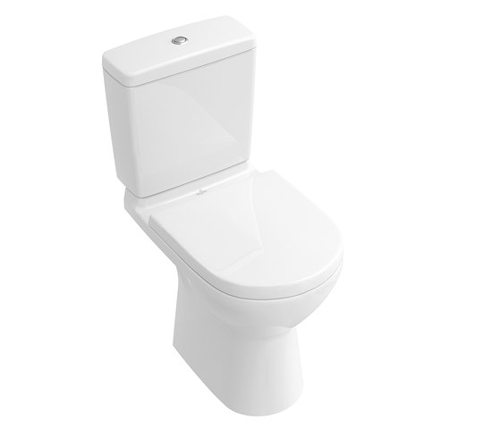O.novo Washdown WC for close-coupled WC-suite, rimless by Villeroy & Boch | WC