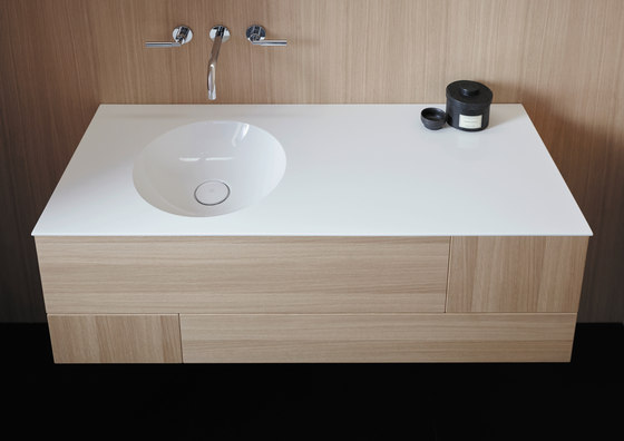 Coco | Mineral cast washbasin incl. vanity unit by burgbad | Vanity units