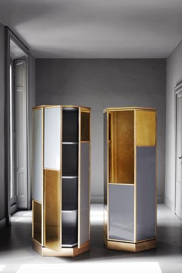 Shine   Ludwig Hexagonal cabinet de Meridiani   Estantería