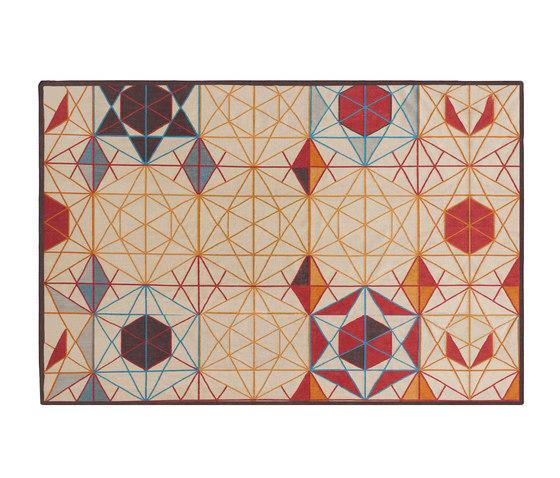 Hexa Rectangular Rug Orange 2 von GAN | Formatteppiche / Designerteppiche