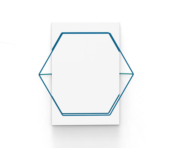 Untitled Mirror Hexa Blue by Untitled Story | Mirrors