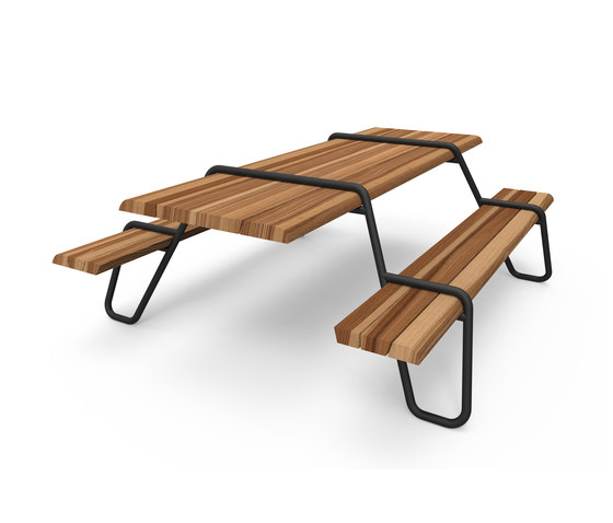 Clip-board picnic 220 | bench & table by Lonc | Restaurant tables and benches