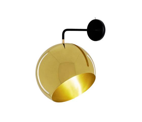 Tilt Globe Wall Brass by Nyta | Wall lights