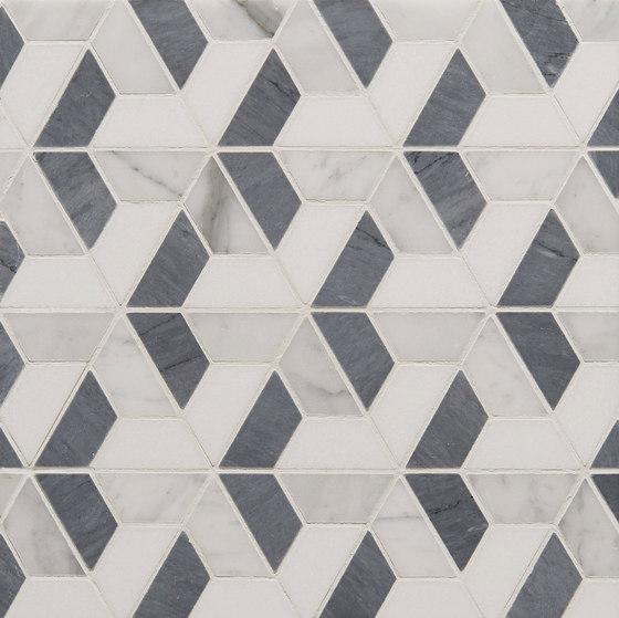 Art Deco Trident by Claybrook Interiors Ltd.   Natural stone tiles