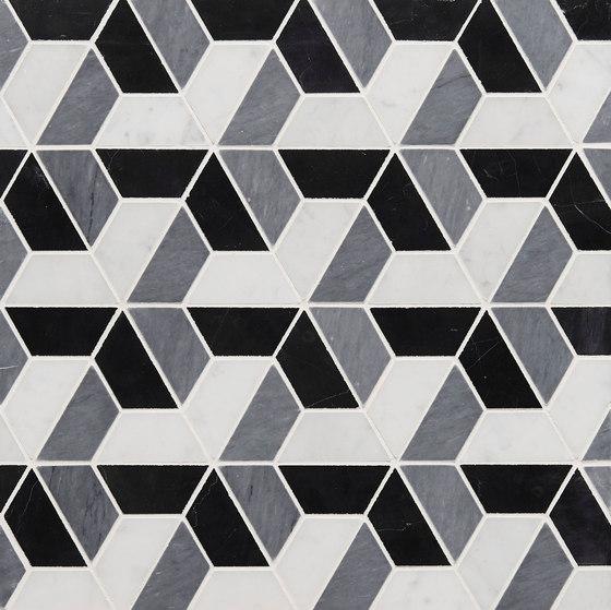 Art Deco Trident by Claybrook Interiors Ltd. | Natural stone tiles